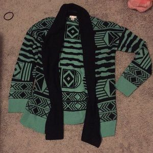 Geometric sweater cardigan Aztec